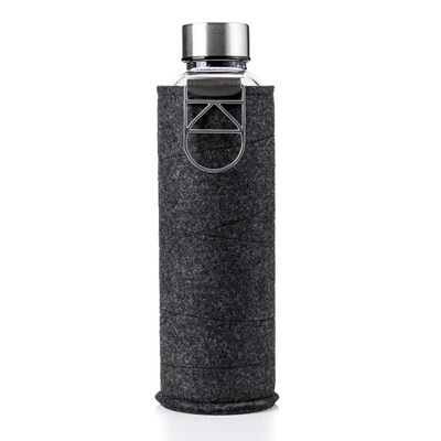 Equa Bottle Tough Glass 550ml Mismatch Charcoal Felt Cover