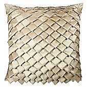 Satin Folds Cushion - Gold