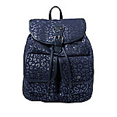 F&F Glitter Leopard Print Backpack