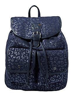 F&F Glitter Leopard Print Backpack