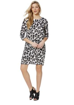 Vero Moda Leopard Print Dress XS White