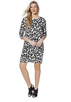 Vero Moda Leopard Print Dress - White