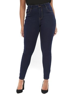 Evans Mid Rise Plus Size Skinny Jeans Indigo Wash 22