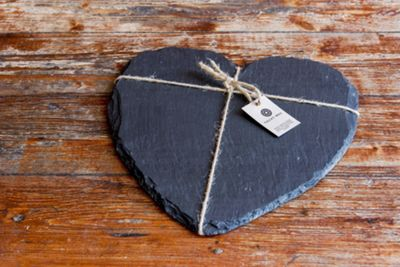 Valley Mill Welsh Slate Heart Cheese Board