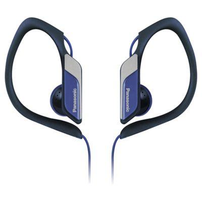 Panasonic RP-HS34 Water-Resistant Sports Clip Headphones - Blue