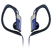 Panasonic RP-HS34 Water-Resistant Sports Clip Headphones - Blue