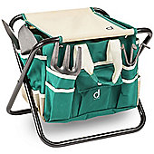 Andrew James Garden Tool Set with Folding Stool and Storage