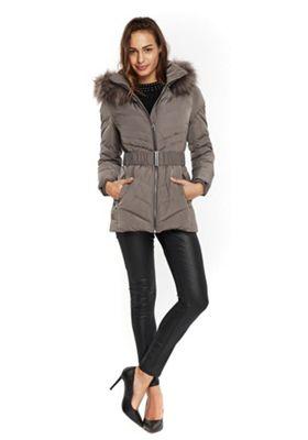 Wallis Belted Short Padded Coat M Mink