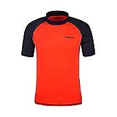 Mens Rash UV Protection Vest Swimming Diving Surfing Top - Orange