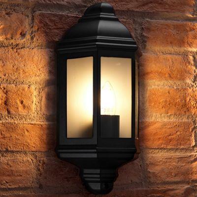 Auraglow Traditional Outdoor Wall Light - Soulbury - Black