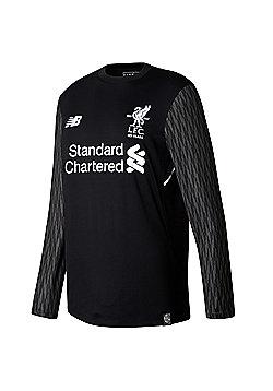 New Balance Liverpool 2017/18 Kids Away Goalkeeper Shirt Black - Black