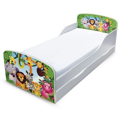 PriceRightHome Jungle Toddler Bed with Underbed Storage