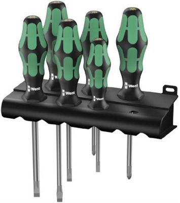 Wera Kraftform Screwdriver Set 6PC 4 Slotted And 2 POZI