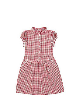 F&F School Gingham Dress - Red & White