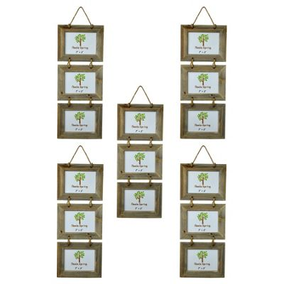 Nicola Spring Triple 3 Photo Hanging Picture Frame - 7 x 5