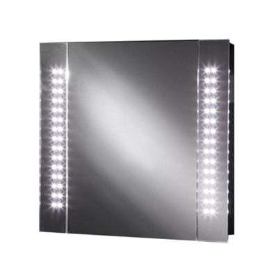 Galactic LED Illuminated Bathroom Mirror Cabinet With 60 LEDs Demister Pad Motion Sensor