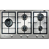 Whirlpool GMF9522IXL 900mm Gas Hob with 5 Burners inc WOK Burner, Stainless Steel