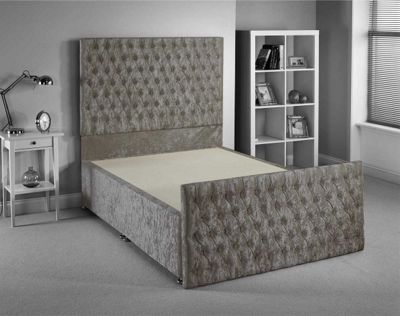Luxan Provincial Bed Frame - Silver - Small Single 2ft6 - 2 Drawers