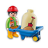 Playmobil Playmobil123 Worker with Wheelbarrow