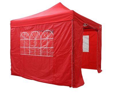 All Seasons Gazebos, Heavy Duty, Fully Waterproof 3m x 3m Standard Pop up Gazebo Package in Red