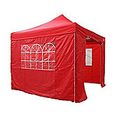 All Seasons Gazebos, Heavy Duty, Fully Waterproof 3m x 3m Standard Pop up Gazebo Package in Red