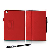 Orzly Stand & Type Case with Penloop for iPad Air - Red