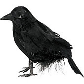Halloween Props Small Feathered Raven - 10cm