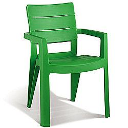 Pair Of Allibert Ibiza Grass Green Dining Garden Chairs