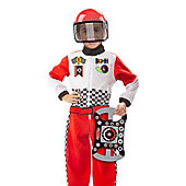 Melissa & Doug This Race Car Driver F1 Costume 3-6 years