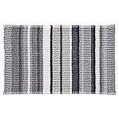 Grey Stripe Bath Mat