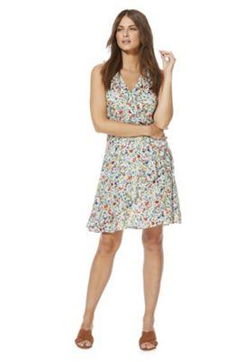 F&F Meadow Print Tea Wrap Dress Multi 22