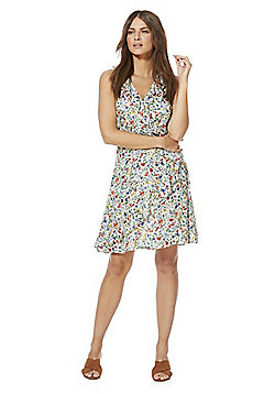 F&F Meadow Print Tea Wrap Dress - Multi
