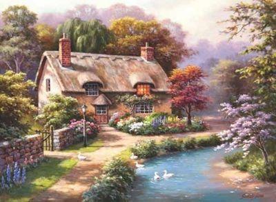 Duck Path Cottage - 1000pc Puzzle