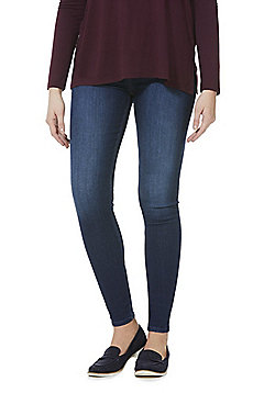 F&F Contour High Rise Skinny Jeans with LYCRA® BEAUTY - Indigo