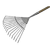 Faithfull Prestige Stainless Steel Lawn Rake Ash Handle