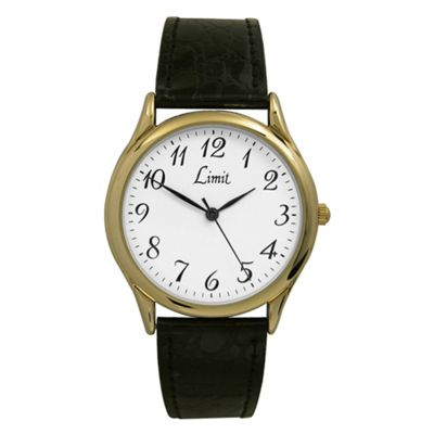 Limit Mens Classic Watch With Gold Case