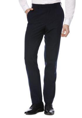F&F Slim Fit Suit Trousers 42 Waist 31 Leg Navy