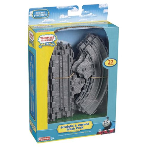 Fisher-Price Thomas Take and Play Straight and Curved Track Pack