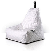 Luxury Quilted Bean Bag - White