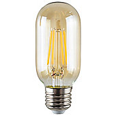 Vintage 4W LED Filament Amber Tubular Lightbulb ES E27 - Warm White