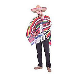028bbc1885a30 Mexican Poncho - Adult Costume Size  38-50