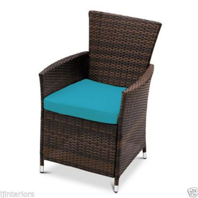 Gardenista Seat Pad for Rattan Patio Chair - Turquoise