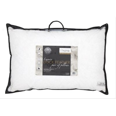 Catherine Lansfield Home Signature Duck Feather - Pillow Pair