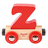 Bigjigs Rail Rail Name Letter Z (Red)