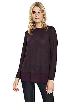 Wallis Metallic 2-in-1 Jumper - Purple