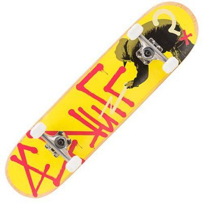 Enuff Tag Graffiti Yellow 7.75 Inch Complete Skateboard