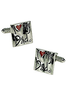 I Love My Dad Enamel Heart Cufflinks - CK854