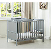 Orlando Cot Bed Cotbed top changer With Free Water Repellent Mattress (Grey)