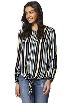 F&F Striped Tie Hem Top Multi 16