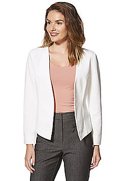 Only Ribbed Open Front Blazer - Cream